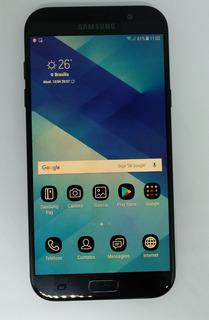 Galaxy A7 2017 Samsung Preto A720f/ds 32gb Vitrine Burn-in