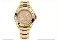 Relógio Technos Dourado E Rose Feminino Elegance Ladies