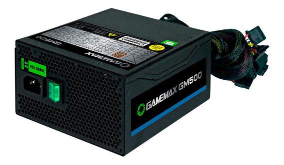 Fonte Gamer Gamemax Gm500 500w Atx 80 Plus Bronze Oem Nova