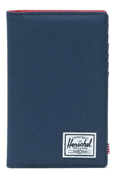 Billetera De Viaje Portapasaporte Herschel Search Navy Rfid
