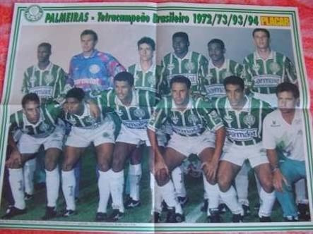 Lote De Pôsteres Revista Placar Palmeiras Década De 90