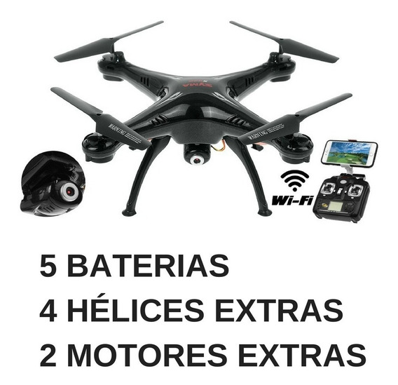 Drone Syma X5sw 5 Baterias Camera Fpv Wifi Completo