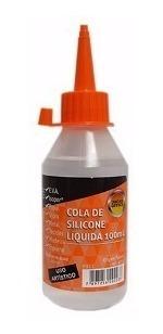 Super Cola Silicone Líquida 100ml Leonora Unidade