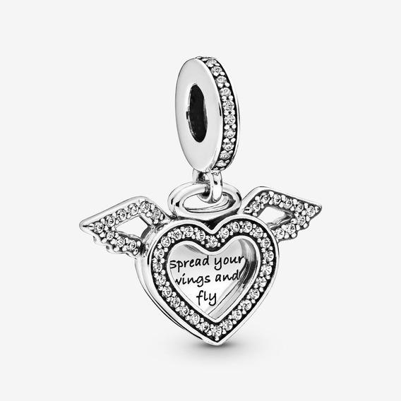 Pandora Charm Colgante Corazón Y Alas De Ángel