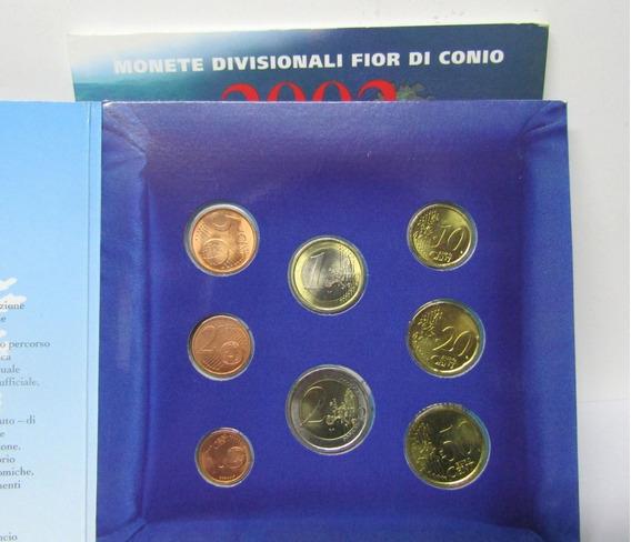San Marino Blister De Set 8 Monedas Año 2002 Centavos Euros
