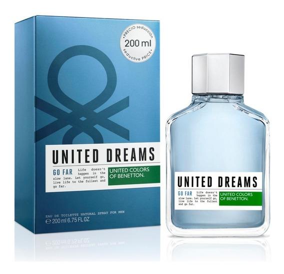 Perfume United Dreams Go Far Benetton Eau De Toilette 200ml