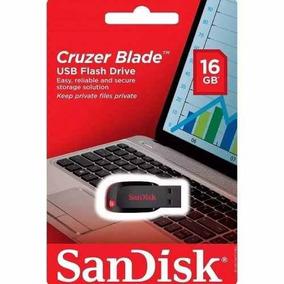 Kit Com 4 Pen Driver Sandisk Cruzer Blade 16gb Original