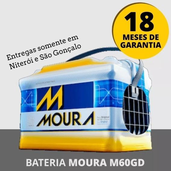 Bateria Moura 60ah Classic ,golf, Polo - Frete Niterói E Sg