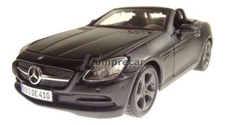 Miniatura Mercedes Benz Slk Class Preto Fosco Maisto 1/24