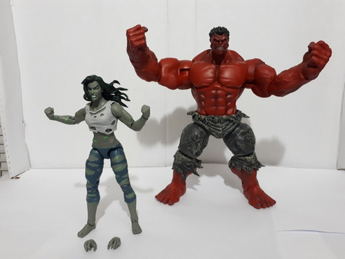 Marvel Legends Mulher Hulk E Hulk Vermelho Diamond Select