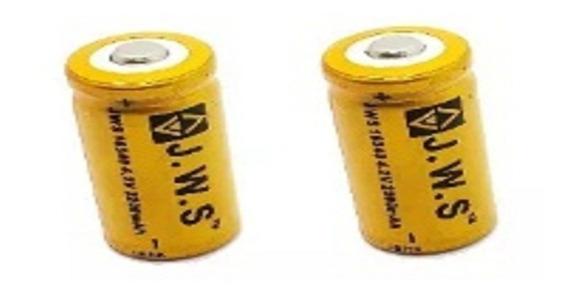 Kit 2 Baterias Cr123a Gold Jws Recarregável 16340 4,2v - C