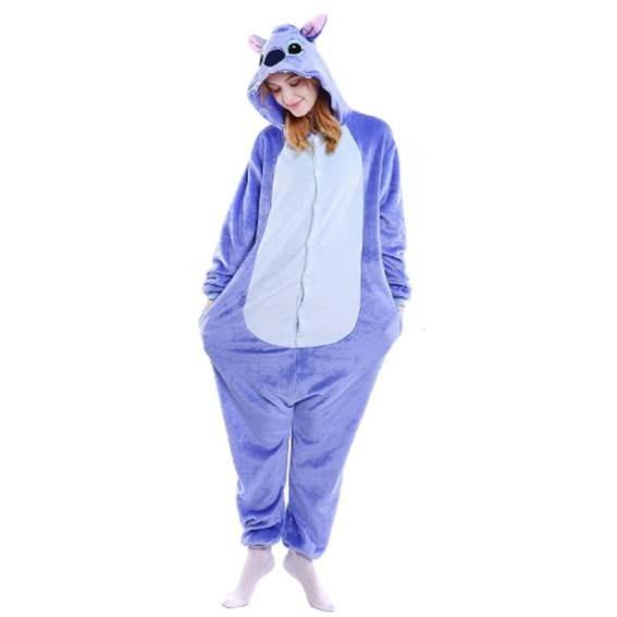 Pijama Stitch Kawaii Moda Mameluco Kigurumi Envío Gratis