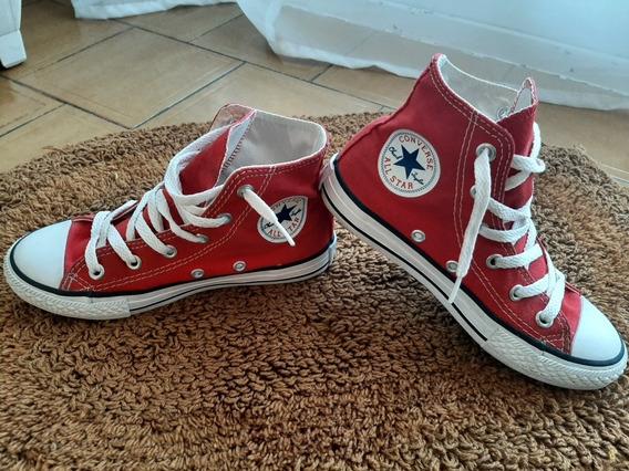 Zapatillas Converse. Botita Rojo.