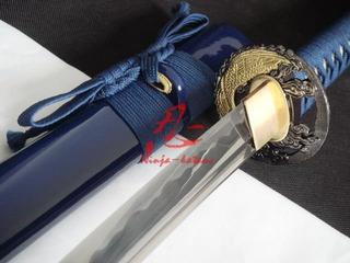 Espada Katana Samurai Fio De Corte Lâmina Afiada Aço 1060
