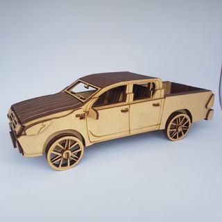 Miniatura Toyota Hilux 3d Mdf - Pronta Entrega