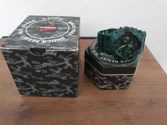 Relógio De Pulso Caso O G-shock Verde Camuflado