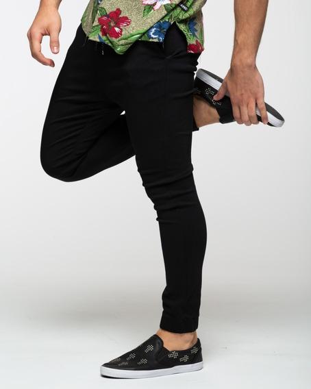 Jogger Elastizado Negro Siamo Fuori Premium