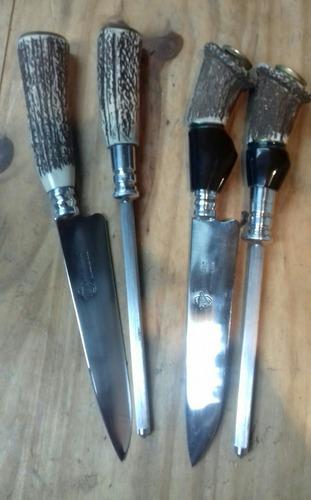 Cuchillo Artesanales Gardeliano De 15 Cm De Hoja Con Chaira