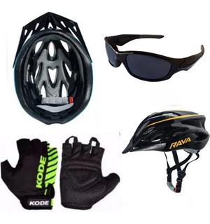 Capacete Bike Bicicleta+ Óculos De Brinde + Luvas Ciclismo