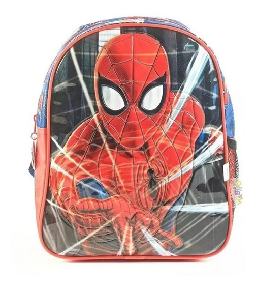 Mochila Spiderman Wabro 12 Pulgadas Original Lelab 11140