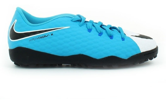 Tenis Nike Hombre Azul Blanco Hipervenomx P Iii T 852562104