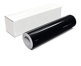 Papel Adesivo Contact Preto Brilho Rolo 45 Cm X 10 Metros