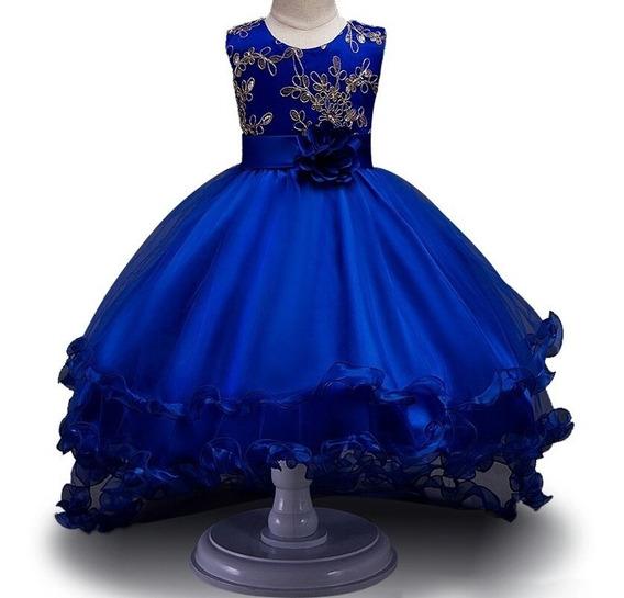 Vestido Infantil Casamento Daminha Festa Cauda Formatura