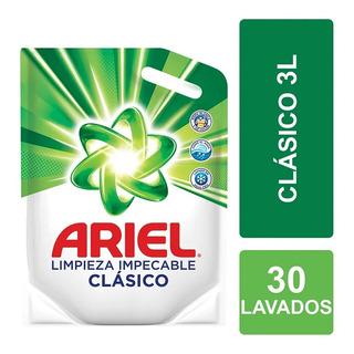 Jabón Liquido Para La Ropa Ariel X 3lts Clásico Doypack