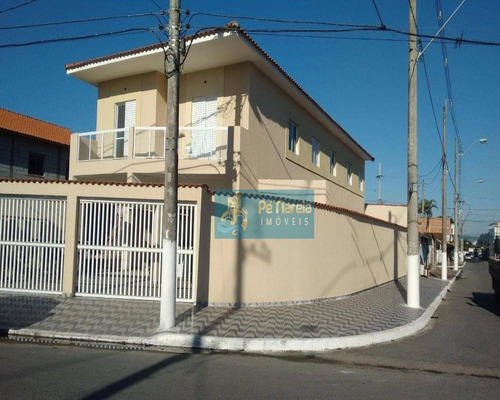 Casa Com 2 Dormitórios À Venda Por R$ 153.000 - Balneário Esmeralda - Praia Grande/sp - Ca0052