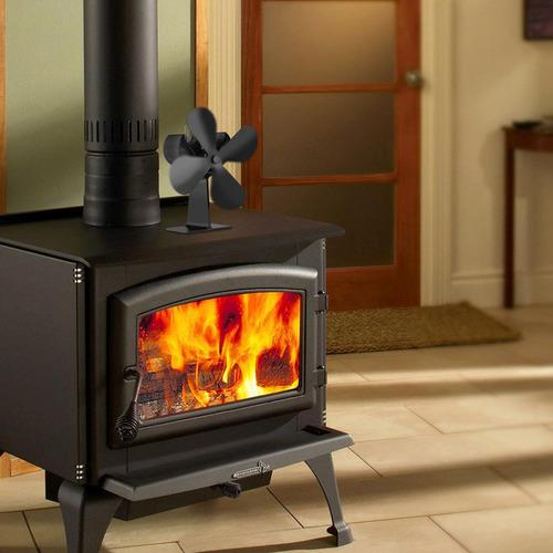 TXYFYP Ventilador de Estufa de 5 aspas accionado por Calor Ecol/ógico Ventilador de Estufa de le/ña el/éctrico montado en la Pared para Estufas de Gas//pellets//le/ña//le/ña