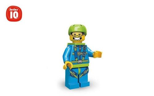 Minifigura De Lego Skydiver Serie 10