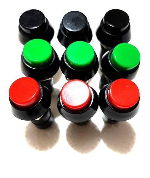 Chave Botão Com Trava Liga Desliga Com 10 Unidades