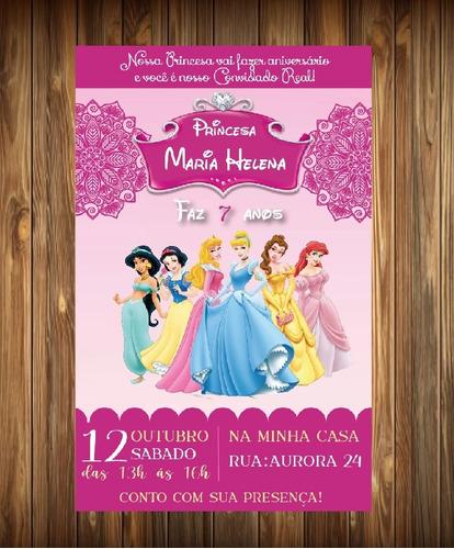 Convite Princesas Aniversário Digital