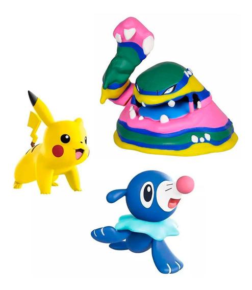 Miniatura Pokémon Battle Figure Pack Coleção Batalha 3 Und