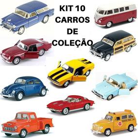 Kit 10 Carrinho Miniatura De Ferro Antigo Coleção Vintage 12