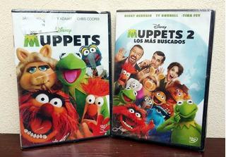Los Muppets + Los Muppets 2 - Lote Dvd Nuevo Y Cerrado