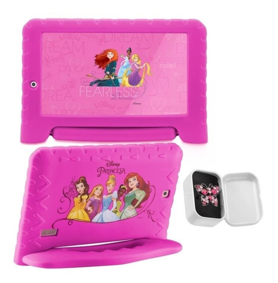 Tablet Princesas Capa Emborrachada 16gb Android +anel Outlet