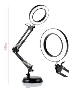 Lámpara Articulada Led Para Escritorio Usb Con Luz Cálida Y Fría De Metal Resistente Envío Gratuito