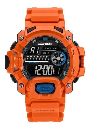 Relógio Mormaii Digital Acqua Mozm1132/8l Laranja