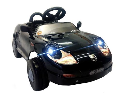 Karting A Pedal Infantil Porsche Con Luz Y Espejitos Mipong