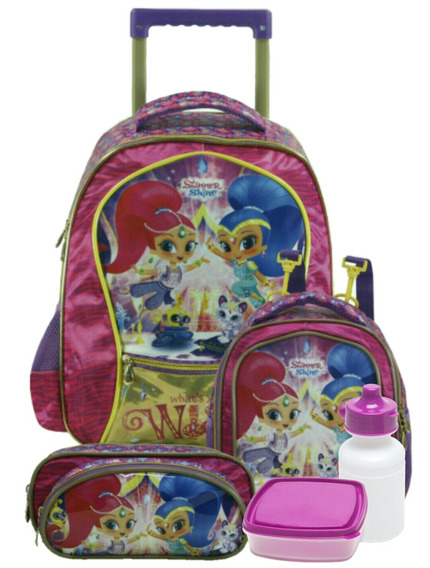 Kit Escolar Xeryus Shimmer & Shine Wish Rosa E Roxo