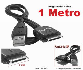 Zsan01 Sansa Mp4 Cable Reproductores Qsan01q Compu-toys