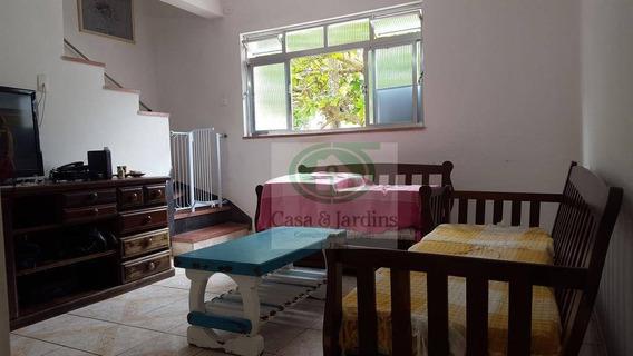 Casa Com 2 Dormitórios À Venda, 86 M² Por R$ 350.000,00 - Campo Grande - Santos/sp - Ca0774