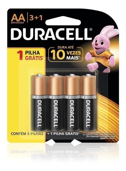 Pilha Duracell Aa 1,5v Comum 4 Unidades Promoção