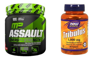 Pre Treino Assault Musclepharm + Tribulus Now Metrx Importad