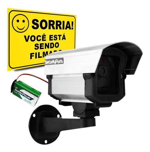Imagem 1 de 7 de Micro Câmera Falsa C/ Led A Pilha Sem Fio Security Parts