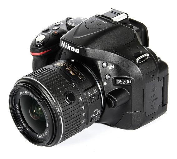 Camara Nikon D5200 + 18-55mm G Vrii + Bolso + 16gb Sin Uso