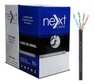 Cabo Rede Cftv Cat5e Utp 4 Pares Caixa 305m Next Cable Preto
