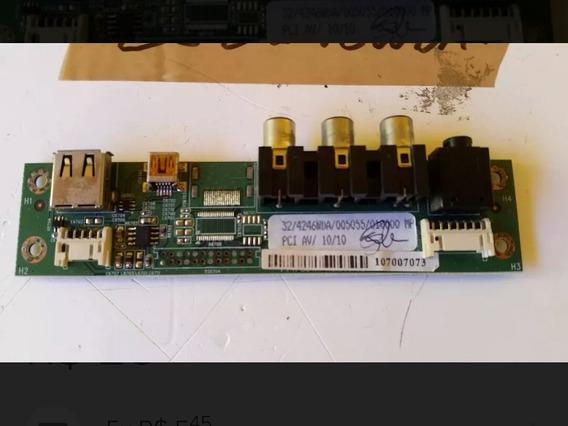 Placa Av Lateral Tv Lcd Semp Toshiba Lc3246wda