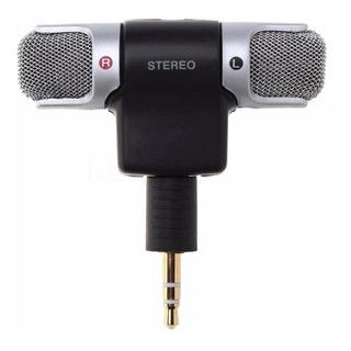 Microfone Estéreo Sem Fio Para Celular Câmeras E Gravador